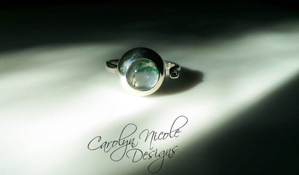 Two Stone Bezel Ring by Carolyn Nicole Designs