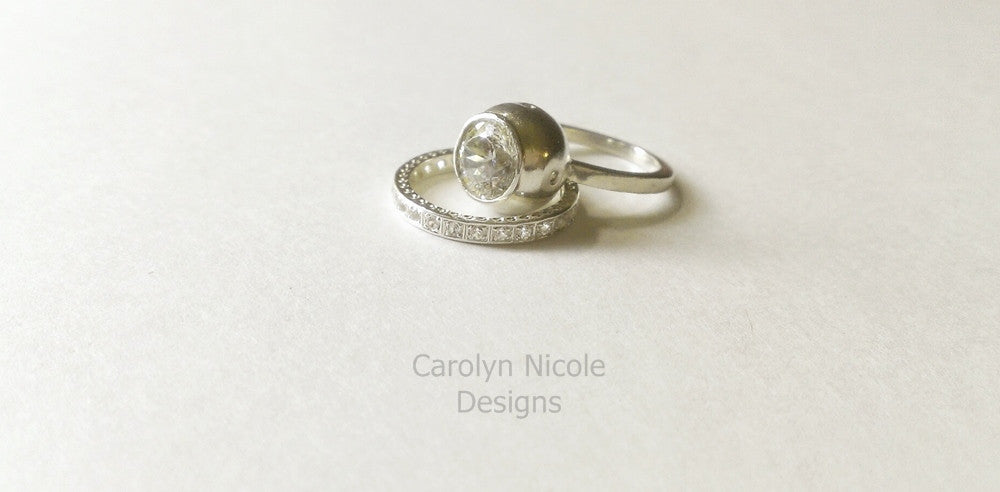 Bubble Bezel Ring by Carolyn Nicole Designs