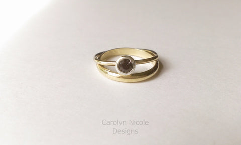 Color Change Garnet Stack Ring by Carolyn Nicole Designs