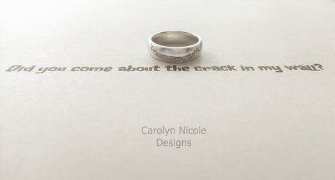 Cracked Universe Ring (Sterling Silver) by Carolyn Nicole Designs
