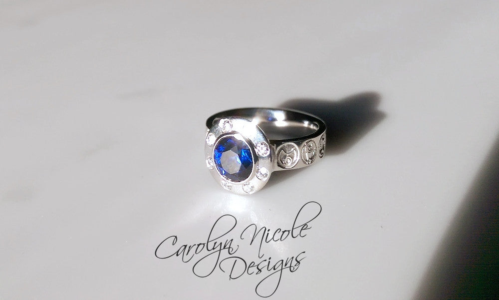 Custom Who Engagement Ring by Carolyn Nicole Designs