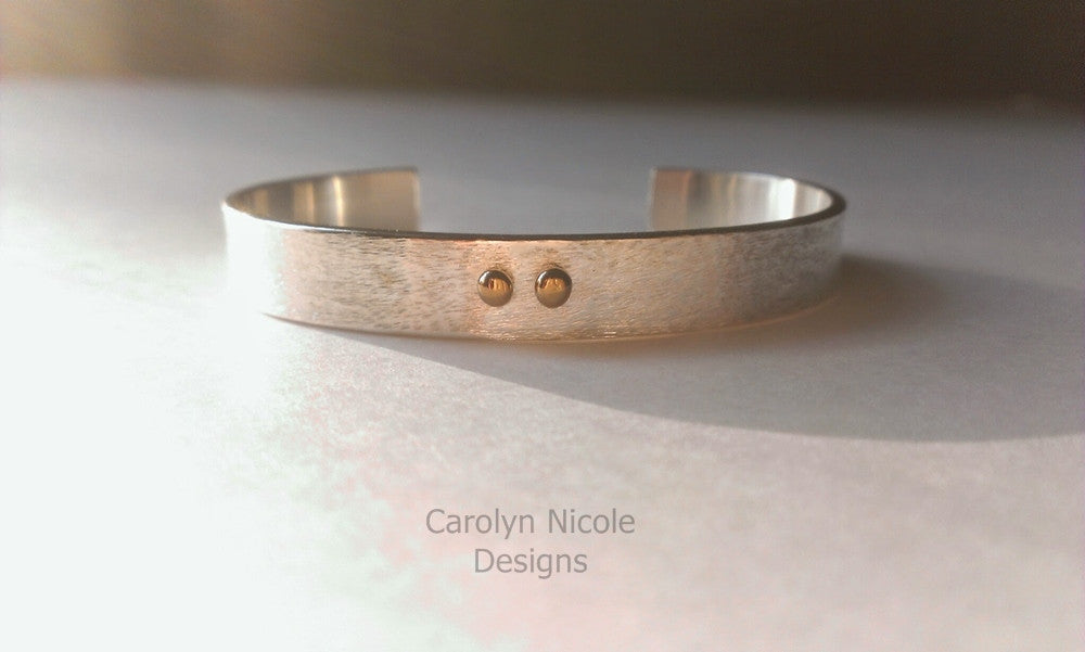 Gold Dot Cuff Bracelet by Carolyn Nicole Designs