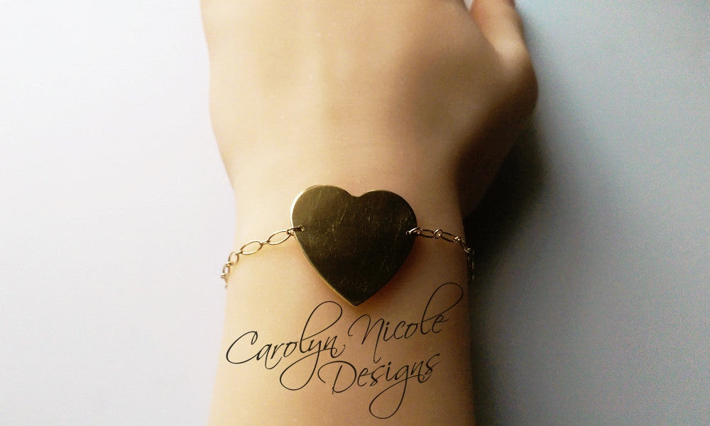 Heart Charm Bracelet by Carolyn Nicole Designs