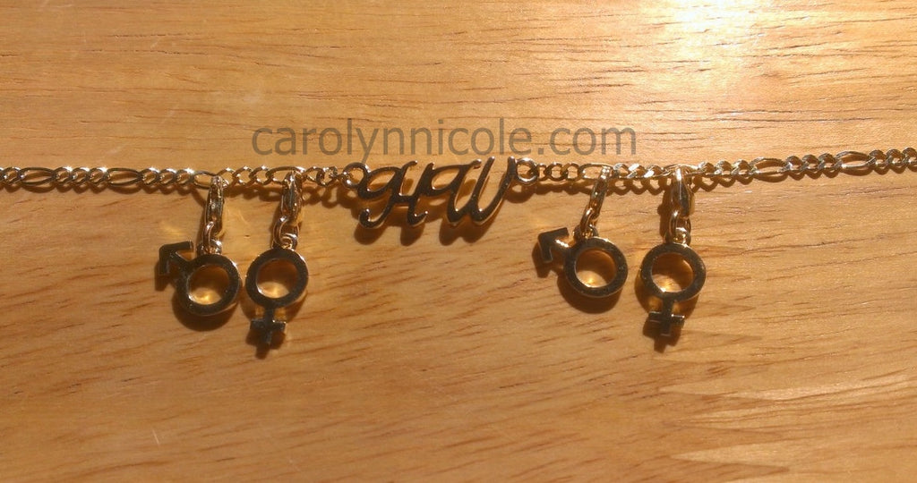 HotWife Ankle Bracelet in 14k Gold by Carolyn Nicole Designs