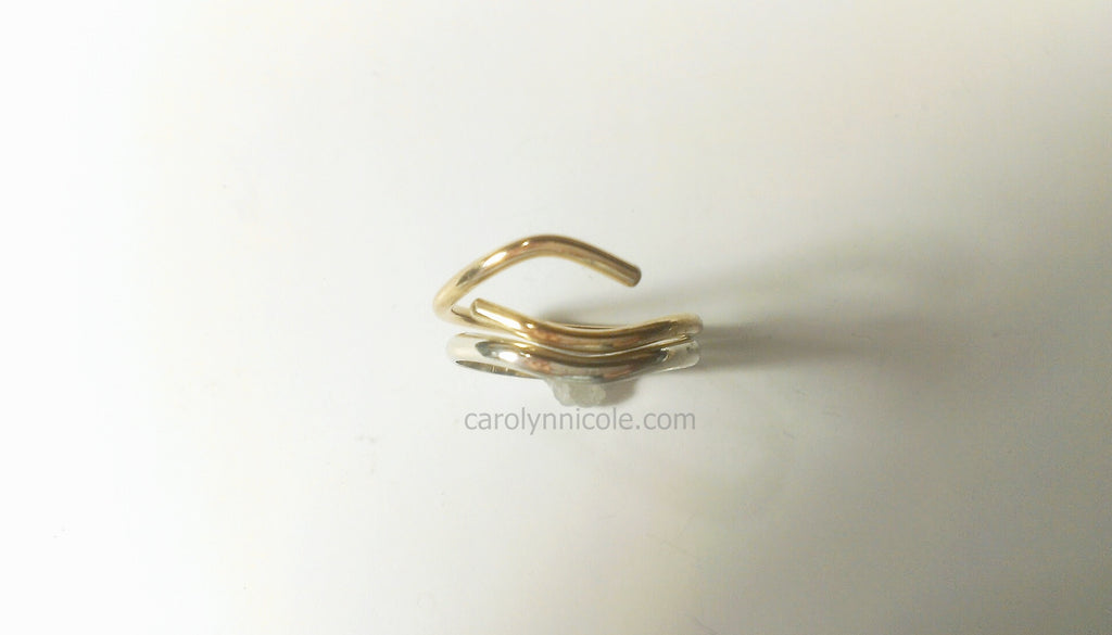 Open Wedding Ring Set by Carolyn Nicole Designs