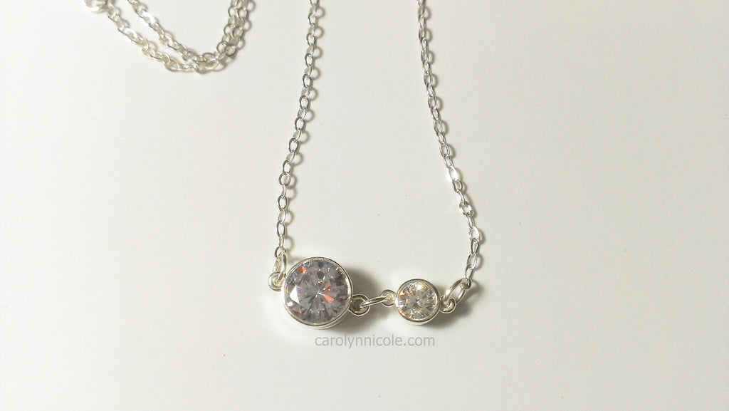 Bezel Necklace by Carolyn Nicole Designs