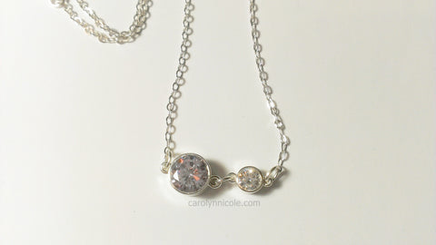 Sterling Silver Bezel Necklace by Carolyn Nicole Designs