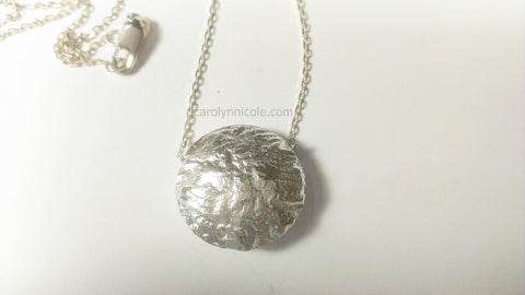 Textured Fine Silver Necklace by Carolyn Nicole Designs