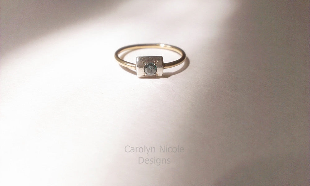 Blue Diamond Stack Ring by Carolyn Nicole Designs
