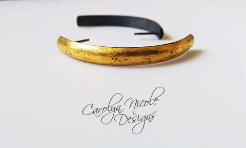 24k Keum Boo Curve Earrings by Carolyn Nicole Designs