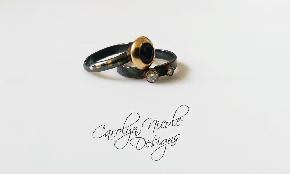 Keum Boo Wedding Rings by Carolyn Nicole Designs