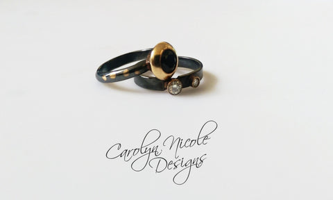 Keum Boo 24k Gold and Silver Wedding Ring by Carolyn Nicole Designs