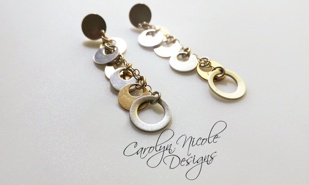 Circle Dangle Earrings by Carolyn Nicole Designs
