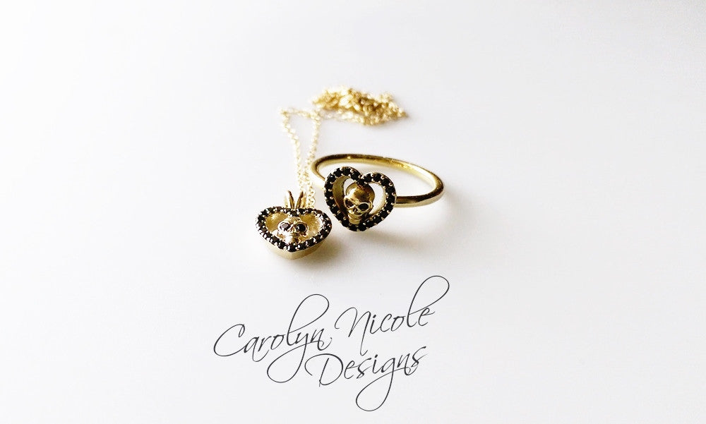 Skull Necklace by Carolyn Nicole Designs