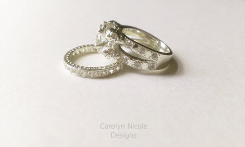 White Sapphire Skull Engagement Ring by Carolyn Nicole Designs