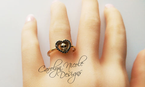 Skull Ring (Sweetheart) by Carolyn Nicole Designs