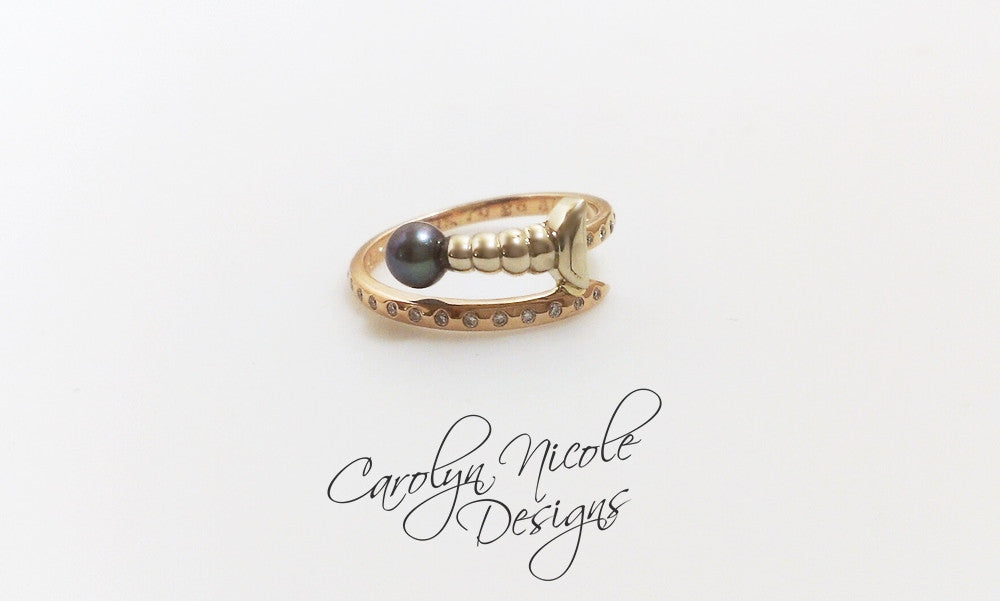 Sword Engagement Ring by Carolyn Nicole Designs