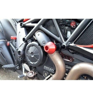 DUCABIKE for Ducati Diavel Protection Frame Red PTDV02A NEW Made in Italy