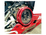 DUCABIKE for Ducati Panigale Clear Clutch Cover Red - CC119901A Made in Italy