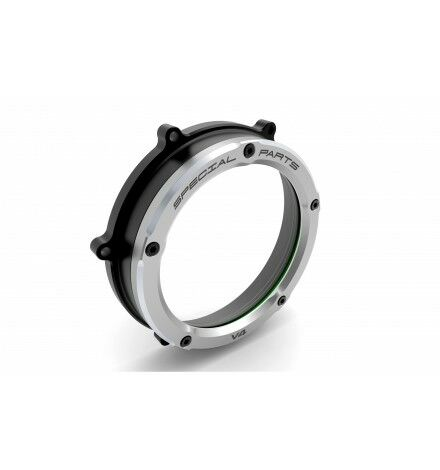 Ducabike for Ducati Clear Clutch Cover Panigale V4 CCV401DE Black-Silver