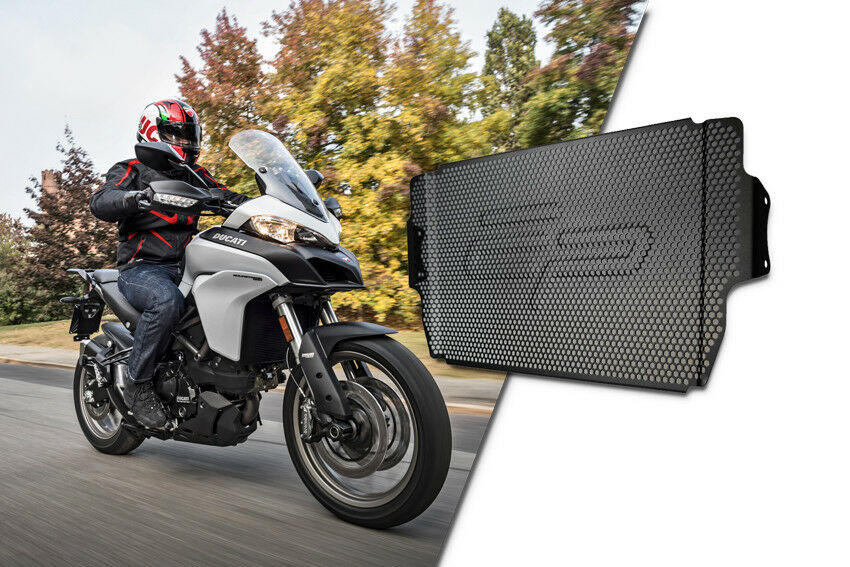 MULTISTRADA 950 RADIATOR GUARD 2017+ Part #   bun002948 Evotech Performance