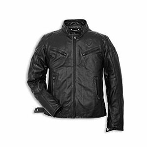 Ducati Urban Leather Jacket - Black Perforated 9810255