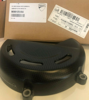 New Genuine Ducati Carbon Dry clutch Cover Set V4 96981251AA