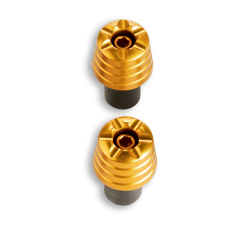 Ducati Performance Anodized Billet Aluminium Handlebar End Weights - Gold, Part # 966319AAA