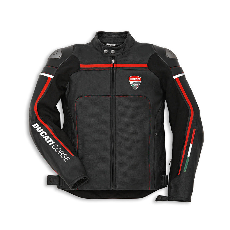 Ducati Performance Corse '14 Leather Perforated Jacket - Black, Part # 9810217