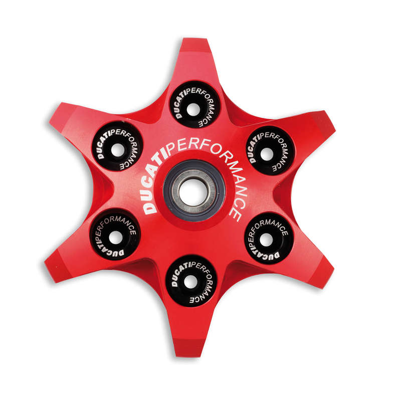 Ducati Performance Radial Clutch Pressure Plate - Red, Part # 96857008B