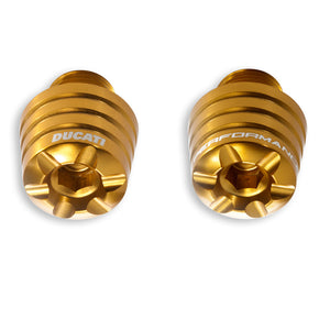 Ducati Performance Panigale Anodized Billet Aluminium Handlebar Weights - Gold, Part # 97380011A
