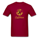 Catchies Globe Tee - dark red