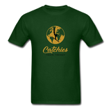 Catchies Globe Tee - forest green