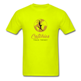 Catchies Globe Tee - safety green