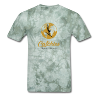 Catchies Globe Tee - military green tie dye