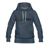 Adult Alley Oop Flip side Hoodie - heather denim