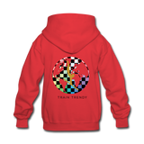 Alley Oop Pink Kids Flip Side Hoodie - red