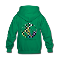 Alley Oop Pink Kids Flip Side Hoodie - kelly green