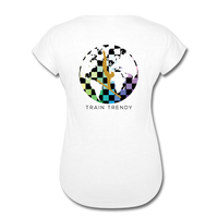 Women's Tri-Blend V-Neck Alley Oop Tee - white