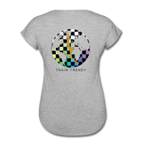 Women's Tri-Blend V-Neck Alley Oop Tee - heather gray