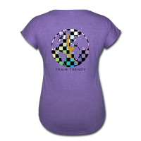 Women's Tri-Blend V-Neck Alley Oop Tee - purple heather