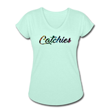 Women's Tri-Blend V-Neck Alley Oop Tee - mint