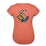 Women's Tri-Blend V-Neck Alley Oop Tee - heather bronze