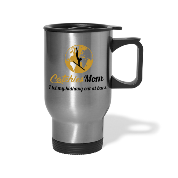 Catchies Mom Travel Mug - silver