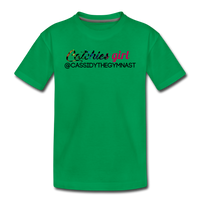 Custom Catchies Girl shirt - kelly green