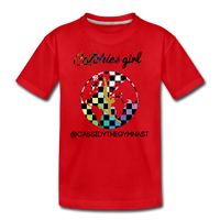 Catchies Girl Globe Shirt Customized - red