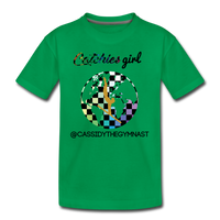 Catchies Girl Globe Shirt Customized - kelly green
