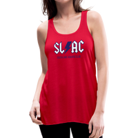 Women's flowy SLAC tank - red