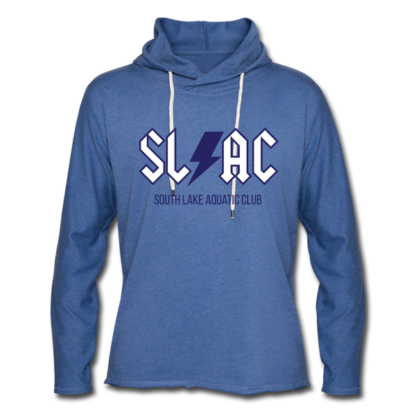 SLAC Unisex Lightweight Terry Hoodie - heather Blue