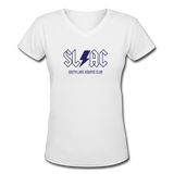 SLAC Women's V-Neck T-Shirt - white
